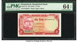 Bangladesh Bangladesh Bank 5 Taka ND (1972) Pick 10 PMG Choice Uncirculated 64 EPQ. Staple holes at issue.  HID09801242017  © 2020 Heritage Auctions |...