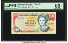 Bermuda Monetary Authority 50 Dollars 25.3.1995 Pick 44b PMG Gem Uncirculated 65 EPQ.   HID09801242017  © 2020 Heritage Auctions | All Rights Reserved...