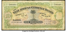 British West Africa West African Currency Board 10 Shillings 1937 Pick 7b Fine.   HID09801242017  © 2020 Heritage Auctions | All Rights Reserved