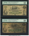 Canada Moncton, NB- Westmorland Bank $2 1.8.1861 Ch.# 800-12-04 Two Examples PMG Very Good 10 (2). PVC is noted on one example.  HID09801242017  © 202...