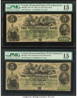 Canada Moncton, NB- Westmorland Bank $5 1.8.1861 Ch.# 800-12-06 Two Examples PMG Choice Fine 15.   HID09801242017  © 2020 Heritage Auctions | All Righ...