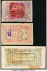 China Khotan District Administration 3 Taels 1935 Pick S1737; 1 Tael 1938 Pick S1738; Sinkiang Provincial Government Finance Department Treasury 5 Tae...