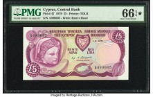Cyprus Central Bank of Cyprus 5 Pounds 1.6.1979 Pick 47 PMG Gem Uncirculated 66 EPQ S.   HID09801242017  © 2020 Heritage Auctions | All Rights Reserve...