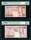 Gibraltar Government of Gibraltar 10; 20 Pounds 1.12.2006 Pick 32a; 33a Two Examples PMG Gem Uncirculated 65 EPQ; Superb Gem Unc 67 EPQ.   HID09801242...