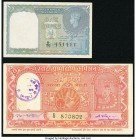 India Government of India 1 Rupee 1940 Pick 25a Jhun4.1.1A; Khadi & Village Industries Commission 10 Rupees circa 1950s Pick Unlisted Very Fine or Bet...