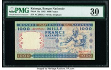 Katanga Banque Nationale du Katanga 1000 Francs 26.2.1962 Pick 14a PMG Very Fine 30.   HID09801242017  © 2020 Heritage Auctions | All Rights Reserved