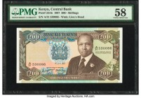 Kenya Central Bank of Kenya 200 Shillings 1.7.1987 Pick 23Ab PMG Choice About Unc 58.   HID09801242017  © 2020 Heritage Auctions | All Rights Reserved...