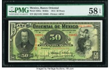 Mexico Banco Oriental 50 Pesos 14.3.1914 Pick S384c M463c PMG Choice About Unc 58 EPQ.   HID09801242017  © 2020 Heritage Auctions | All Rights Reserve...