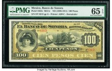 Mexico Banco de Sonora 100 Pesos ND (1898-1911) Pick S423r M511r Remainder PMG Gem Uncirculated 65 EPQ.   HID09801242017  © 2020 Heritage Auctions | A...