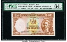 New Zealand Reserve Bank of New Zealand 10 Shillings ND (1960-67) Pick 158d PMG Choice Uncirculated 64 EPQ.   HID09801242017  © 2020 Heritage Auctions...