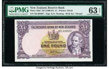New Zealand Reserve Bank of New Zealand 1 Pound ND (1960-67) Pick 159d PMG Choice Uncirculated 63 EPQ.   HID09801242017  © 2020 Heritage Auctions | Al...