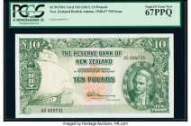 New Zealand Reserve Bank of New Zealand 10 Pounds ND (1967) Pick 161d PCGS Superb Gem New 67PPQ.   HID09801242017  © 2020 Heritage Auctions | All Righ...