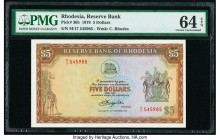 Rhodesia Reserve Bank of Rhodesia 5 Dollars 20.10.1978 Pick 36b PMG Choice Uncirculated 64 EPQ.   HID09801242017  © 2020 Heritage Auctions | All Right...