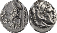 MACEDON. Kingdom of Macedon. Alexander III (the Great), 336-323 B.C. AR Drachm, Lampsakos Mint, Posthumous issue under Antigonos I, ca. 310-301 B.C. N...