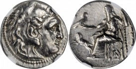MACEDON. Kingdom of Macedon. Alexander III (the Great), 336-323 B.C. AR Drachm, Magnesia pros Maiandros Mint, Posthumous issue under Lysimachos, ca. 3...