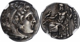 MACEDON. Kingdom of Macedon. Philip III, 323-317 B.C. AR Drachm, Lampsakos mint. NGC Ch VF.
