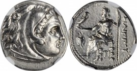 MACEDON. Kingdom of Macedon. Philip III, 323-317 B.C. AR Drachm, Sardes Mint, ca. 322-319/8 B.C. NGC AU.