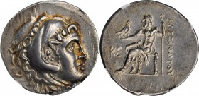 PAMPHYLIA. Perga. AR Tetradrachm (16.94 gms), Dated CY 25 (197/6 B.C.). NGC AU, Strike: 4/5 Surface: 3/5. Brushed.