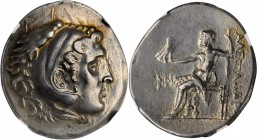 PAMPHYLIA. Perga. AR Tetradrachm (16.81 gms), Dated CY 28 (194/3 B.C.). NGC EF, Strike: 4/5 Surface: 5/5.