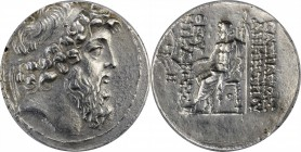SYRIA. Seleukid Kingdom. Demetrios II Nikator (Second Reign) 129-125 B.C. AR Tetradrachm, Antioch on the Orontes Mint, ca. 129-128 B.C. ANACS EF 40.