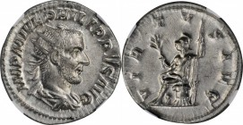 PHILIP I, A.D. 244-249. AR Antoninianus, Rome Mint, A.D. 244. NGC AU.
