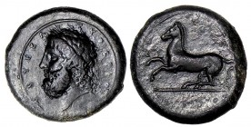 Sicily, Syracuse. Timoleon and the Third Democracy. 344-317 B.C. AE drachm. Struck Ca. 339/8-334 B.C.
