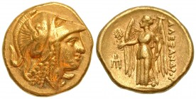 Macedonian Kingdom. Alexander III the Great - Philip III. Ca. 325-319 B.C. AV stater. In the name of Alexander III. Amphipolis mint. Struck under Anti...