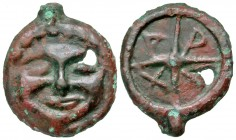 Skythia, Olbia. Late 5th-4th century B.C AE cast as. Rare.