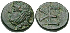 Troas, Kebren. Civic issue. 400-310 B.C. AE 9 assarion.