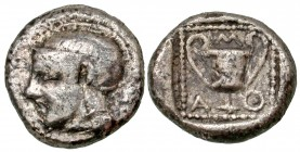 Lesbos, Methymna. 450-406 B.C. AR drachm. Rare. From the D. Thomas Collectio.