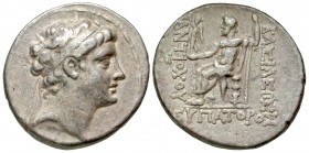 Seleukid Kingdom. Antiochos V Eupator. 164-162 B.C. AR tetradrachm. Antioch on the Orontes mint. Scarce.