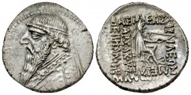 Parthian Kingdom. Mithradates II. Ca. 123-88 B.C. AR drachm. Rhagae, ca. 96-91 B.C. From the Robert Hoge Collection.