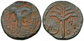 Judaea. Bar Kochba Revolt. 132-135 C.E. AE 26. Year 2 (133/4 C.E.). beautiful patina with earthen highlights.