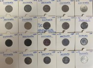 Austria 2-50 Grosh; 1-10 Shilling 1950-1994 Lot of 53 Coins