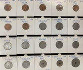 Belgium 5;10;25;50 Centimes 1 Franc 1903-1963 Lot of 20 Coins