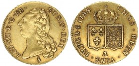 France 2 Louis D'or 1786 A