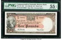 Australia Commonwealth of Australia Reserve Bank 10 Pounds ND (1960-65) Pick 36 R63 PMG About Uncirculated 55 EPQ.   HID09801242017  © 2020 Heritage A...
