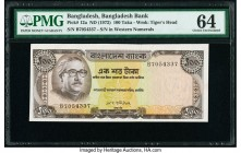 Bangladesh Bangladesh Bank 100 Taka ND (1972) Pick 12a PMG Choice Uncirculated 64. Staple holes at issue.  HID09801242017  © 2020 Heritage Auctions | ...