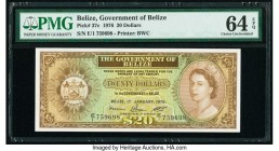 Belize Government of Belize 20 Dollars 1.1.1976 Pick 37c PMG Choice Uncirculated 64 EPQ.   HID09801242017  © 2020 Heritage Auctions | All Rights Reser...