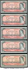 Canada Bank of Canada $2 1954 BC-38bA Five Replacement Examples Crisp Uncirculated.   HID09801242017  © 2020 Heritage Auctions | All Rights Reserved