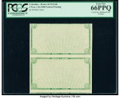 Colombia Banco del Estado 1 Peso 1.10.1900 Pick S504 Partial Printing Uncut Pair PCGS Gem New 66PPQ. Misaligned face printing.  HID09801242017  © 2020...
