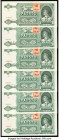"Czech Republic Narodna Banka Slovenska 500 Korun 12.7.1941 Pick 54s Group of 6 Specimen About Uncirculated. All examples are cancelled perorated ""Spec..."