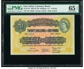 East Africa East African Currency Board 20 Shillings = 1 Pound 1.2.1956 Pick 35 PMG Gem Uncirculated 65 EPQ.   HID09801242017  © 2020 Heritage Auction...