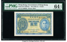 Hong Kong Government of Hong Kong 1 Dollar ND (1940-41) Pick 316 KNB13a PMG Choice Uncirculated 64 EPQ.   HID09801242017  © 2020 Heritage Auctions | A...