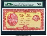 Ireland Central Bank of Ireland 20 Pounds 24.3.1976 Pick 67c PMG Choice About Unc 58.   HID09801242017  © 2020 Heritage Auctions | All Rights Reserved...