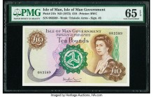 Isle Of Man Isle of Man Government 10 Pounds ND (1972) Pick 31b PMG Gem Uncirculated 65 EPQ.   HID09801242017  © 2020 Heritage Auctions | All Rights R...