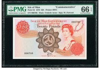 Isle Of Man Isle of Man Government 20 Pounds 1979 Pick 32 PMG Gem Uncirculated 66 EPQ.   HID09801242017  © 2020 Heritage Auctions | All Rights Reserve...