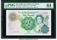 Isle Of Man Isle of Man Government 50 Pounds ND (1983) Pick 39a PMG Choice Uncirculated 64.   HID09801242017  © 2020 Heritage Auctions | All Rights Re...