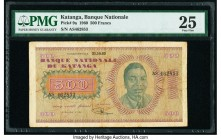 Katanga Banque Nationale du Katanga 500 Francs 31.10.1960 Pick 9a PMG Very Fine 25.   HID09801242017  © 2020 Heritage Auctions | All Rights Reserved