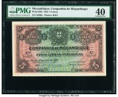 Mozambique Companhia De Mocambique 5 Libras 15.1.1934 Pick R32 PMG Extremely Fine 40. Rare non-cancelled example.  HID09801242017  © 2020 Heritage Auc...